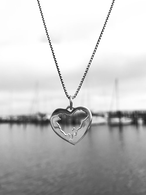 The Heart of Dorchester Necklace Sterling