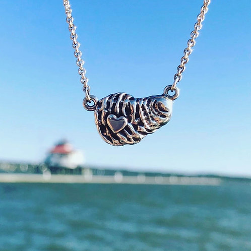 Lover's Spat Oyster Necklace