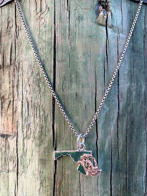Best of the Bay Rose Gold Crab Necklace
