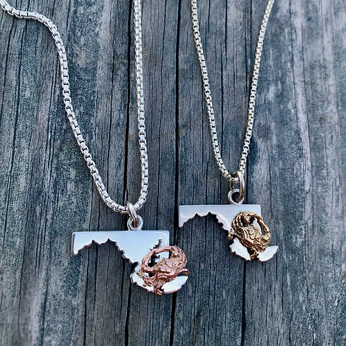 Best of the Bay 14k Crab Necklace