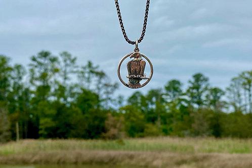 Framed Bald Eagle Necklace