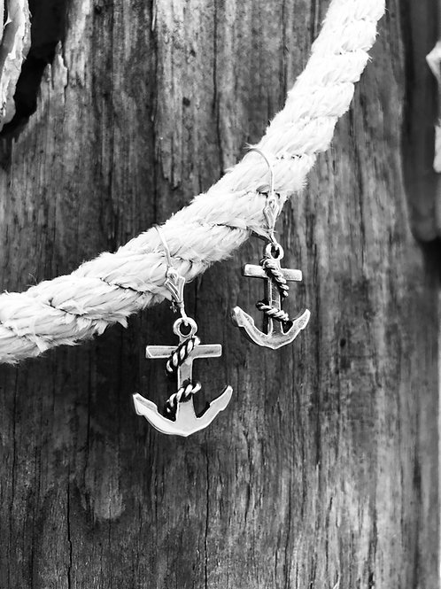 Anchor Leverback Earrings