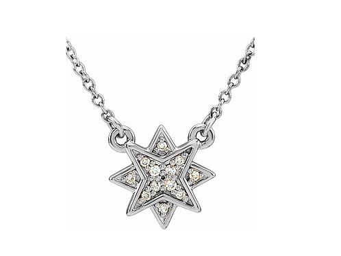 14k Diamond Star Necklace