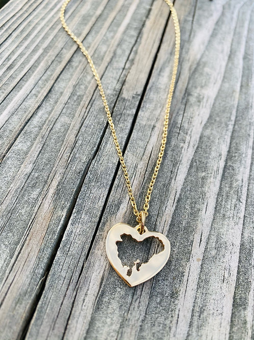 The Heart of Dorchester Necklace 14kYG