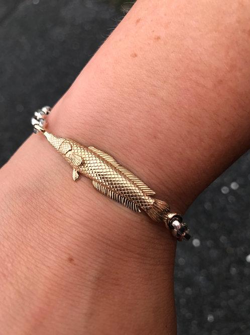Slinky Snakehead Bracelet (14k/SS)