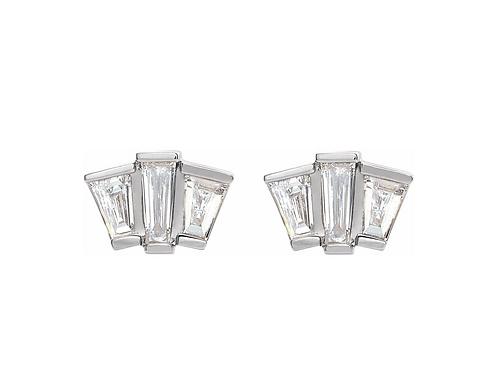 Deco Diamond Stud Earrings
