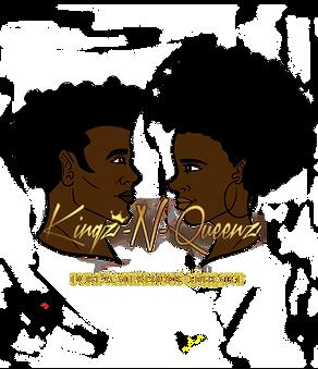 Kingz n Queenz adhesive logo (transparen