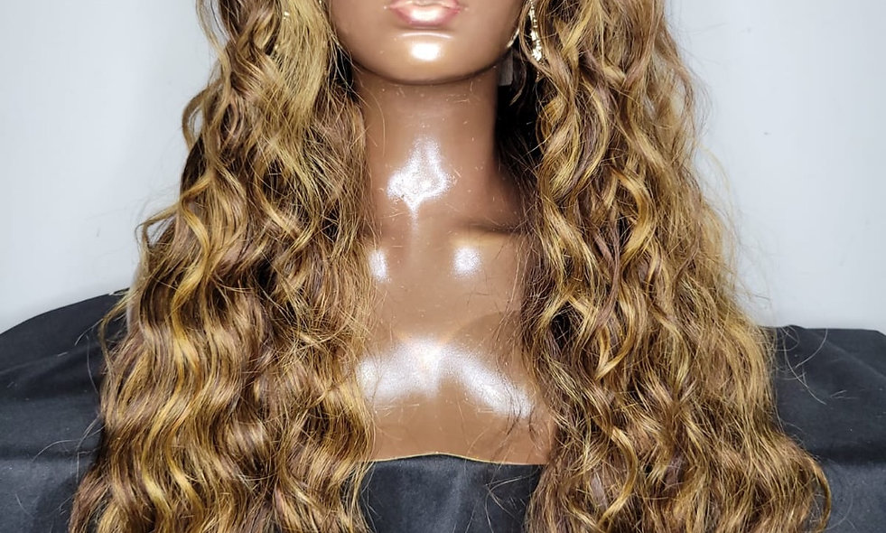 30 Inch Very Thin HD Lace Frontal Wig/ Highlight (180% Density)