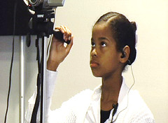 Charles County Maryland, RELAY student,Kwanzaa, operates camcorder - Copy