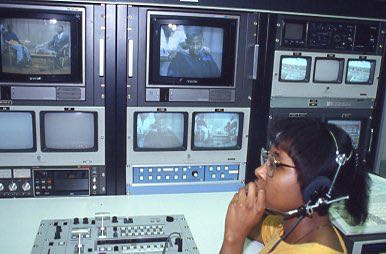 KAREN HARRIS OVERSEES CONTROL ROOM PANEL