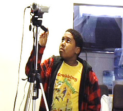 Charles County Maryland, RELAY student, William Coggins operates camcorder - Copy - Copy