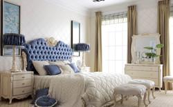 Mavi yatak başlik
