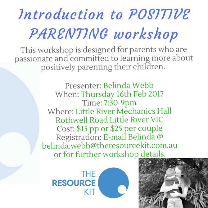 Introduction to Positive Parenting Workshop