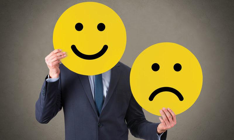 happy or sad face