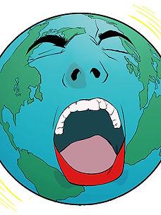 Screaming globe