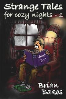 Apprehensive man reads in chair, phantom looks in window