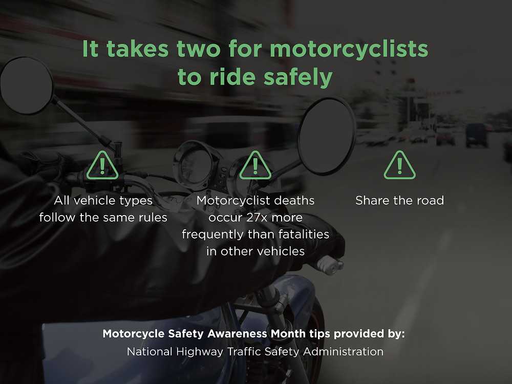 It Takes Two for Motorcyclists to ride safely