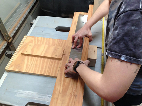Fret Slot Sled for Table Saws
