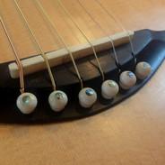 Soji setting up the guitar