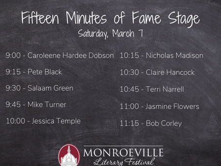Fifteen Minutes of Fame Stage Announced