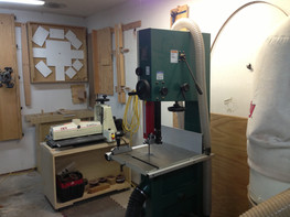 Drum sander, band saw, dust collector