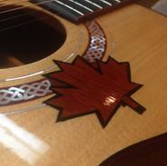Maple leaf inlay