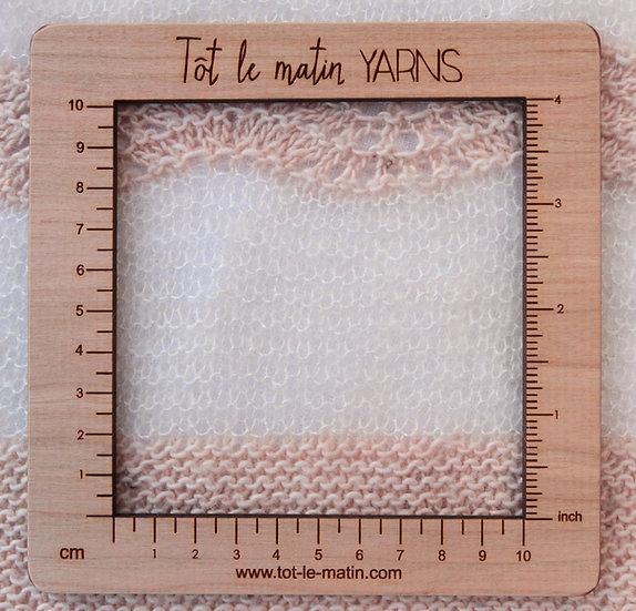 Jauge carrée - 10 cm