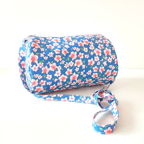 Sac bandoulière Bonnie-motifs fleuri rose et bleu