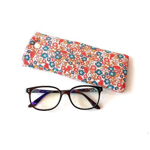 Etui à lunettes fleuri
