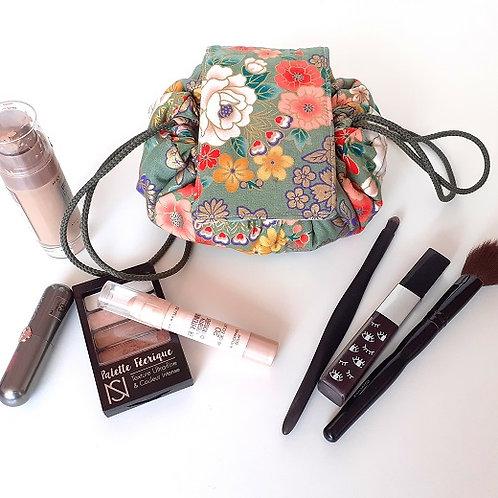 Trousse bourse maquillage tissu japonais