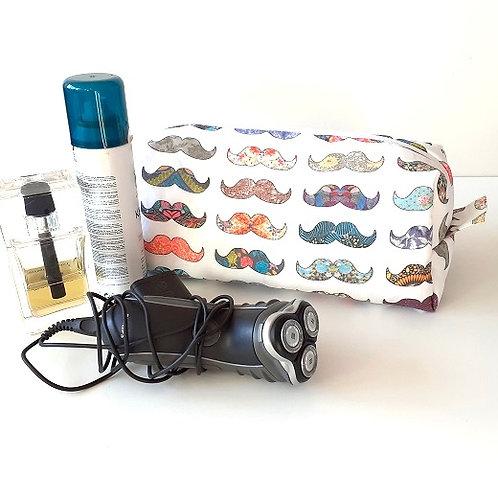 Trousse de toilette hommes-moustache couleur