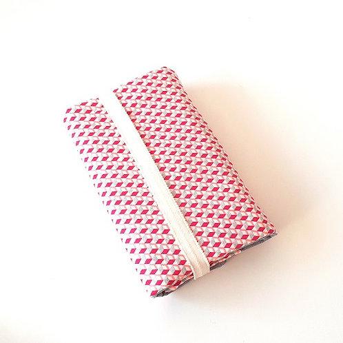 Protège livre cube 3 D rose