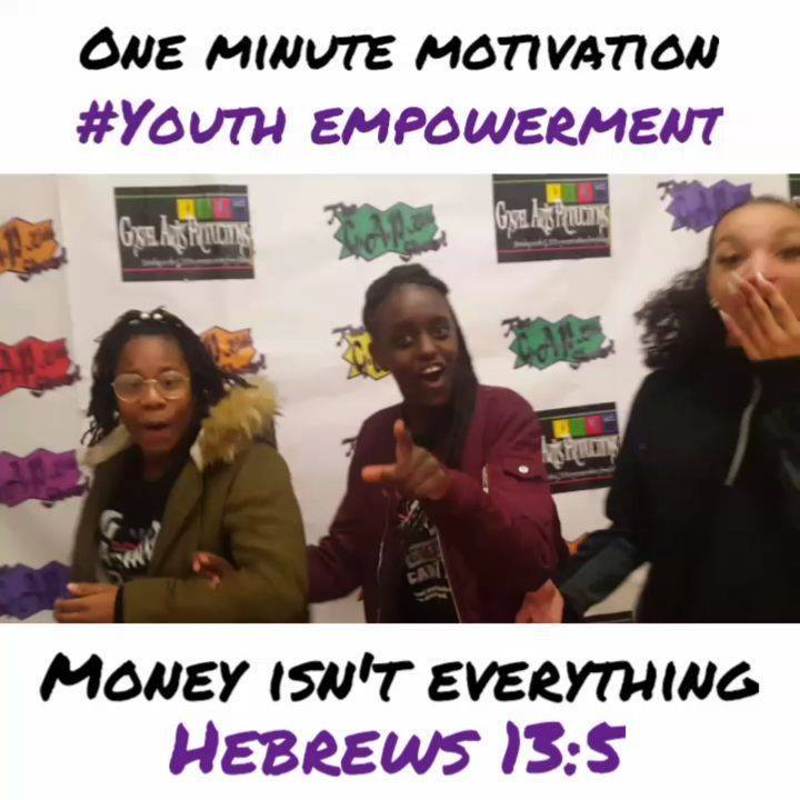Our G.A.P Teens Kelayah, Comanche, Daniella have message with those struggling financially!  Everyweek at G.A.P Academy, we hold Life Coaching & Bible classes. We're training our youth to be future leaders. Here is the 1st of Many one minute motivati