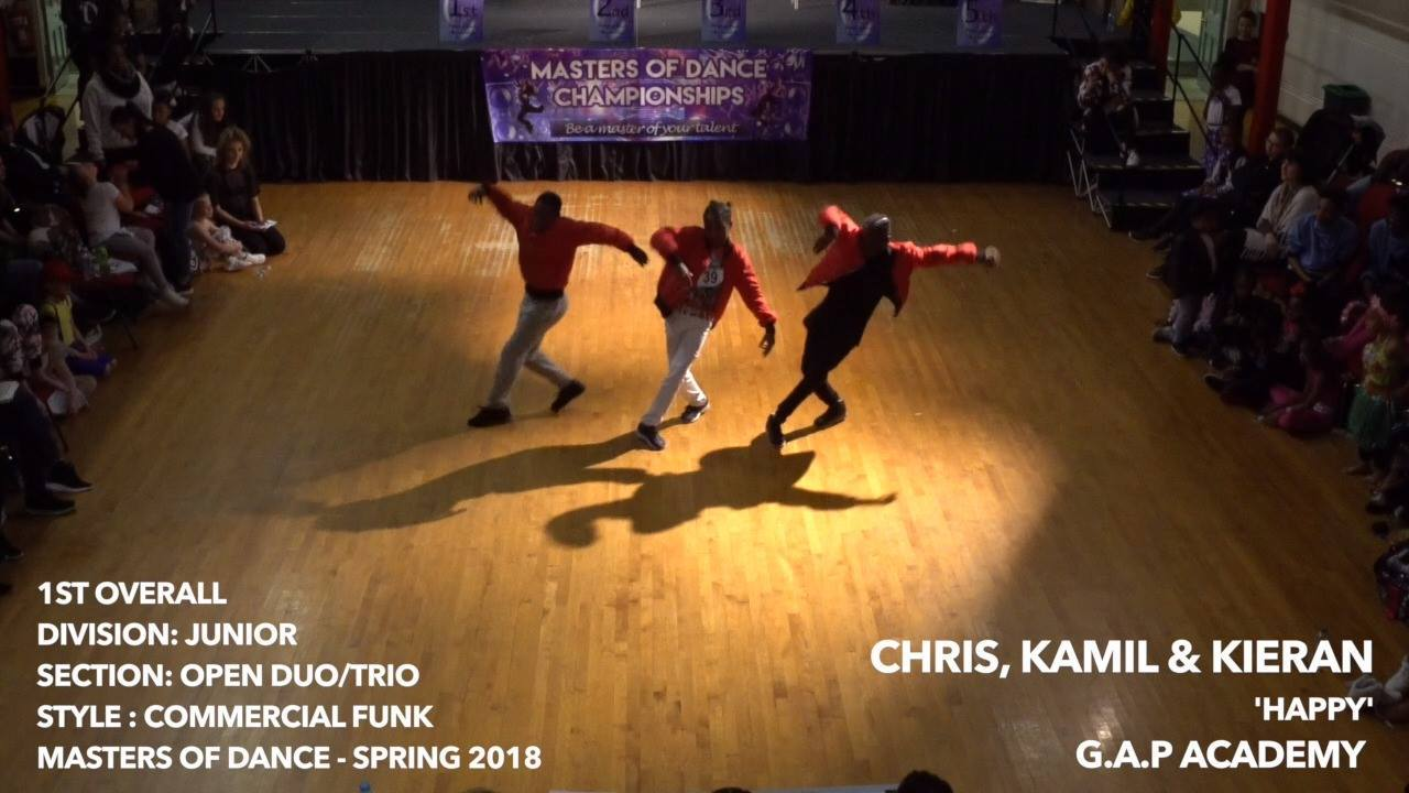 Happy- Chris, Kamil & Kieran- Junior Trio
