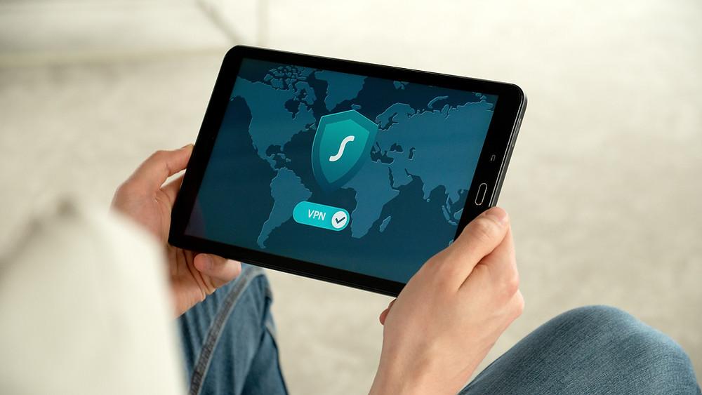 VPN image on tablet