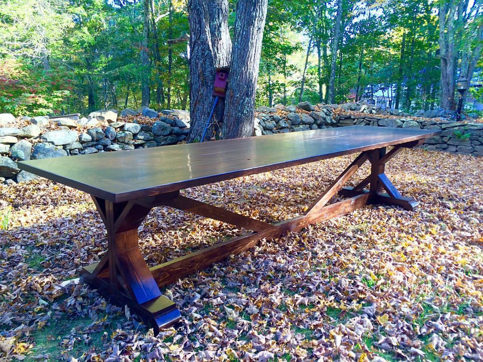 12' X-Brace Dining Table