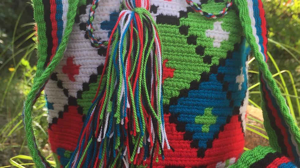 Mochila Wayuu small Green