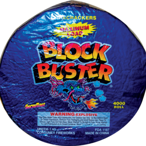 Firecrackers Blockbuster Roll of 4000