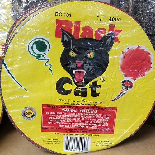 Roll of 4000 Black Cat Firecrackers