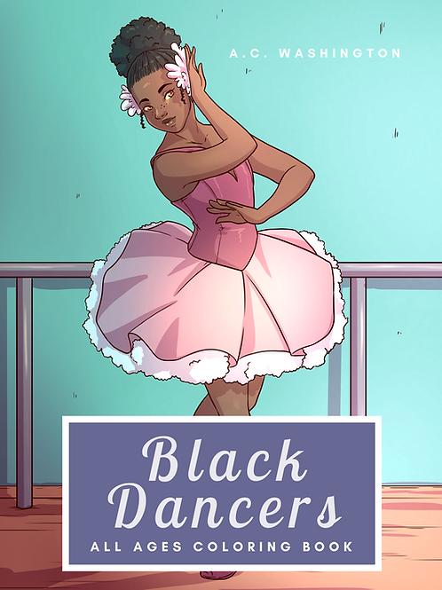 Black Dancers Coloring Book  Paperback