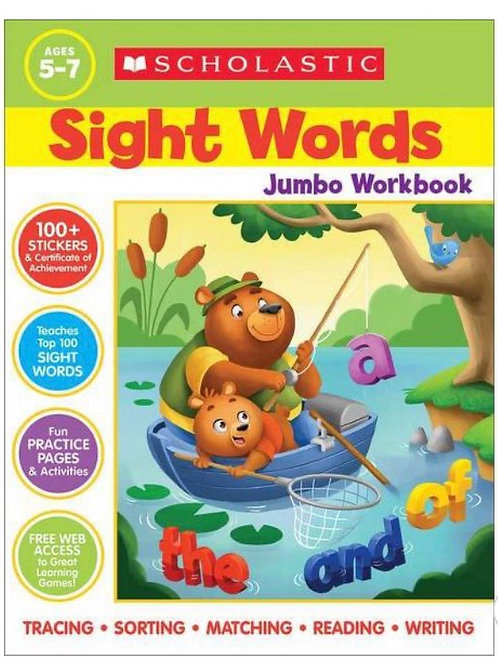 Sight Words Jumbo Book