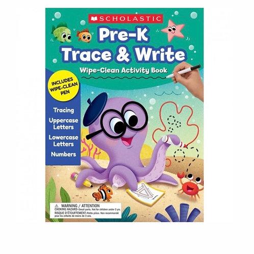 Pre-K Trace & Write Clean Activity Book
