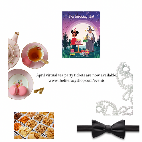 April  Virtual Tea Party and Book Reading : The Birthday Test