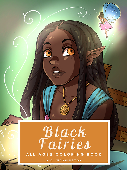 Black Fairies Coloring Book Paperback