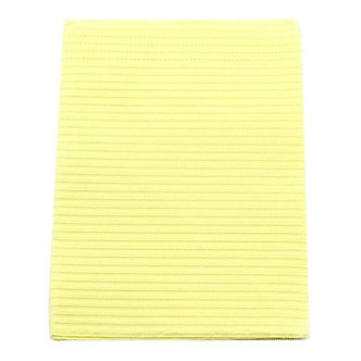 "CROSSTEX TOWEL 3PLY TISSUE 19""X13"" YELLOW CASE/500 EACH"