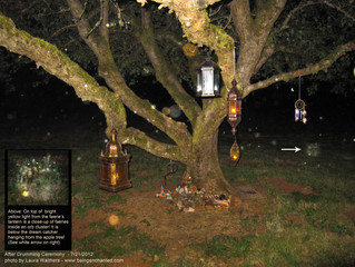 Faeries Bring Lanterns to Drumming Circle