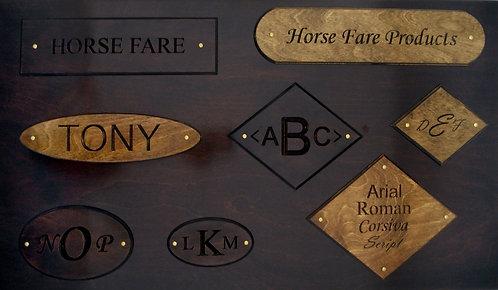 Wood Nameplates