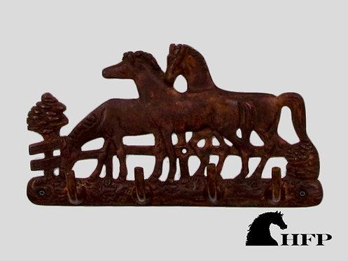 Brass Horsehead Hook- Brown Patina