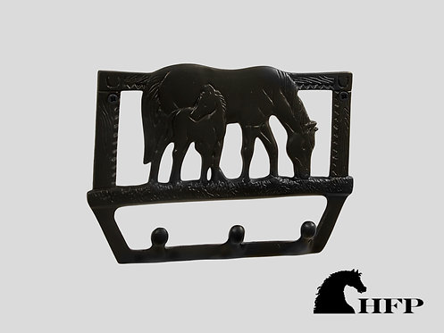 Brass Horse Rack- Black