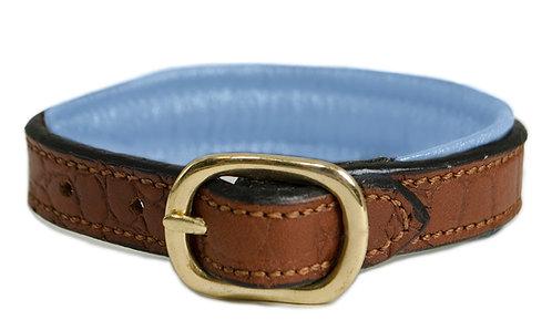 Croc Leather Padded Bracelet